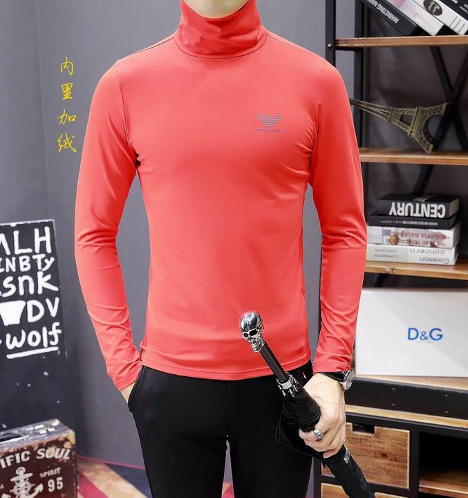 Wholesale Cheap Armani Mens High Collar T Shirts