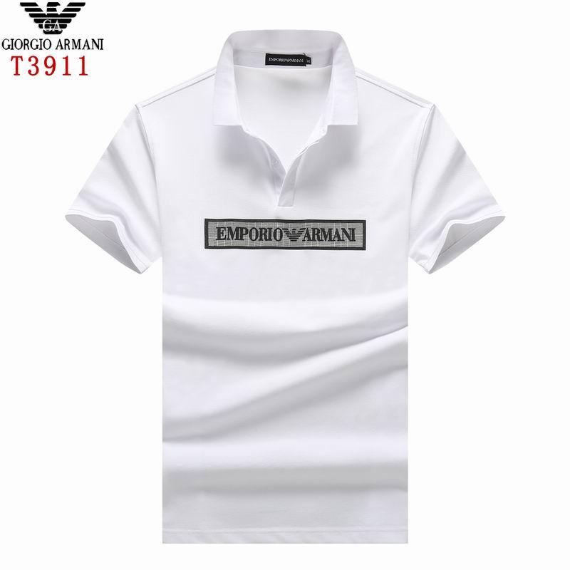 Wholesale Armani Short Sleeve lapel T Shirts for Sale