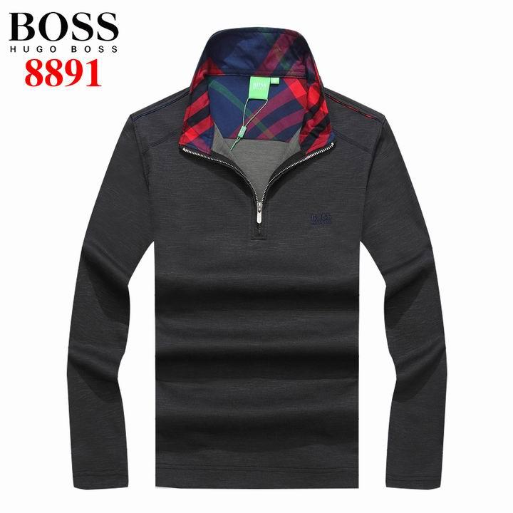 Hugo Boss Long Sleeve Lapel T Shirts