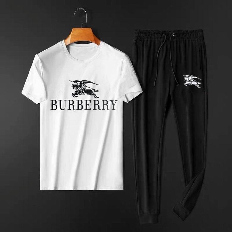 Wholesale Cheap Burberr y Men's Short Sleeve Tracksuit for sale
