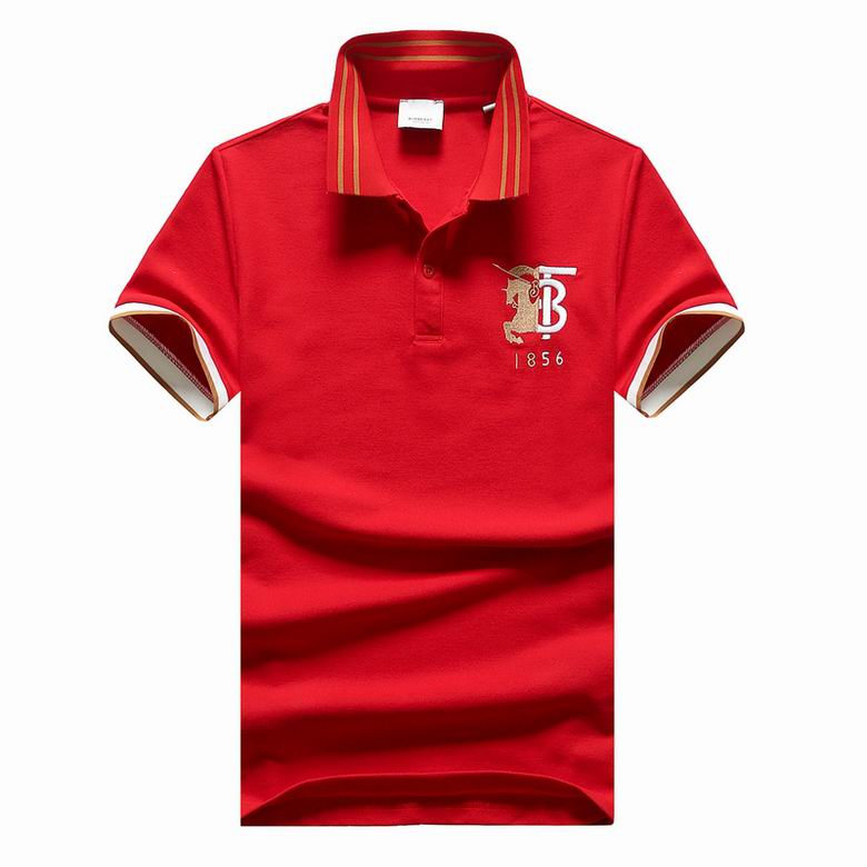 Wholesale Cheap B urberry Polo Short Sleeve Lapel T shirts for sale