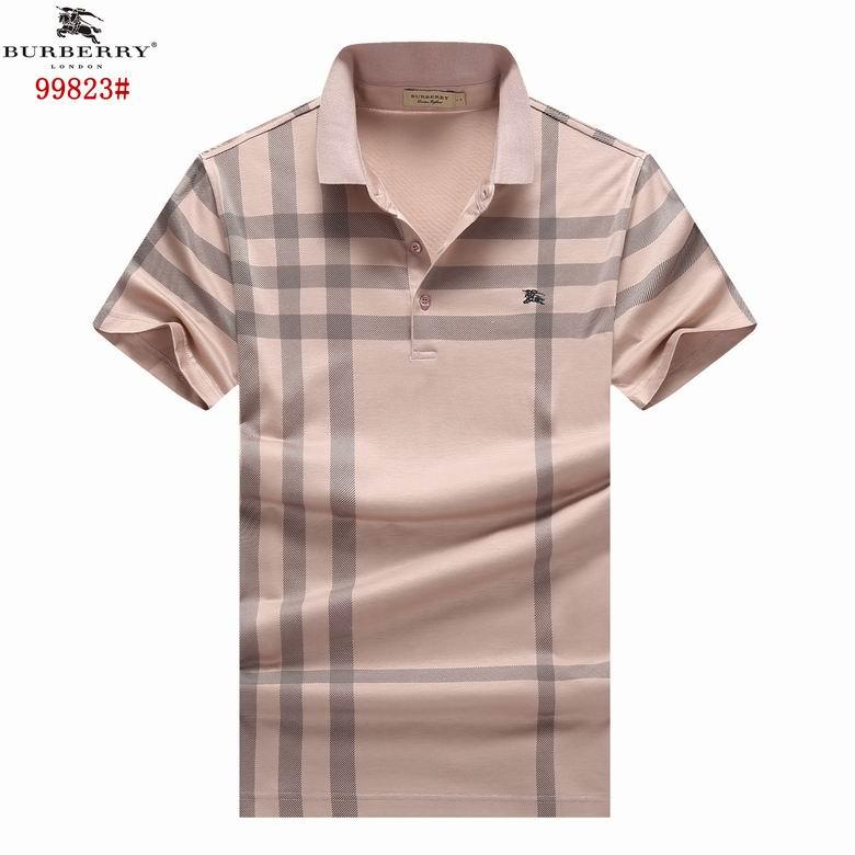 Wholesale Cheap burberr y Short Sleeve Lapel T Shirts for Sale