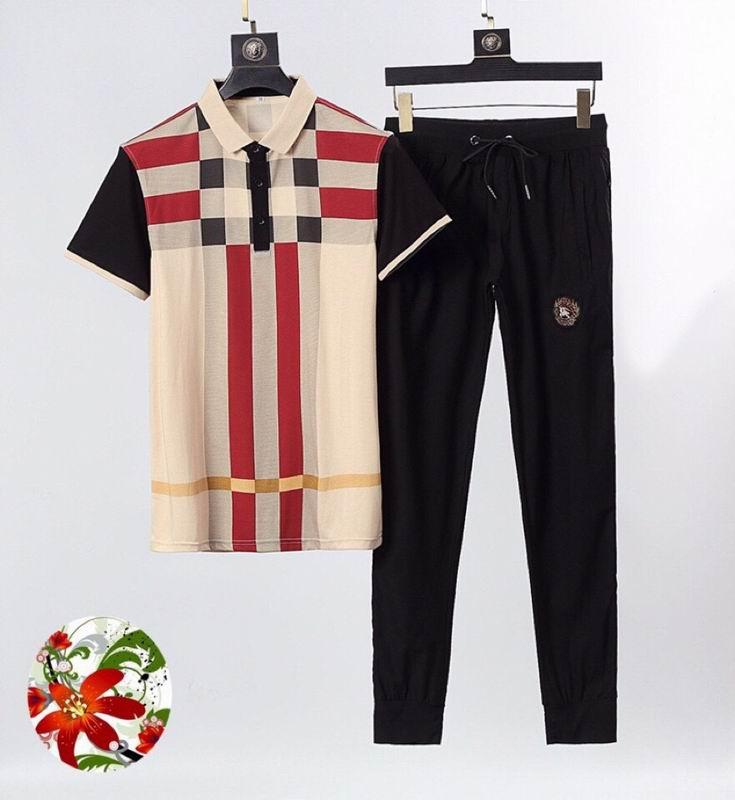 Wholesale Cheap Mens Short Sleeve Tracksuit Set for sale