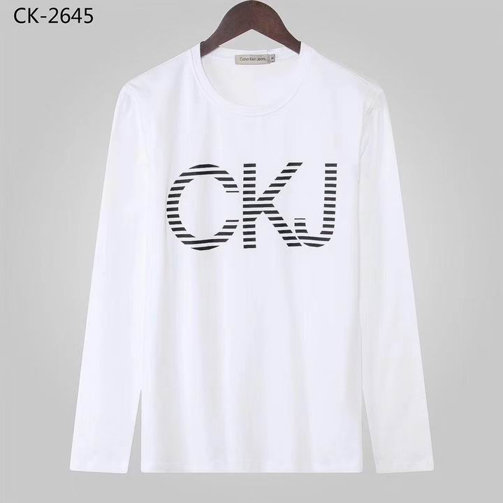 Wholesale Calvin Klein Long Sleeve round collar T Shirts for sale