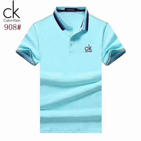 Wholesale Cheap Calvin Klein Short Sleeve Lapel T Shirts for Sale-028