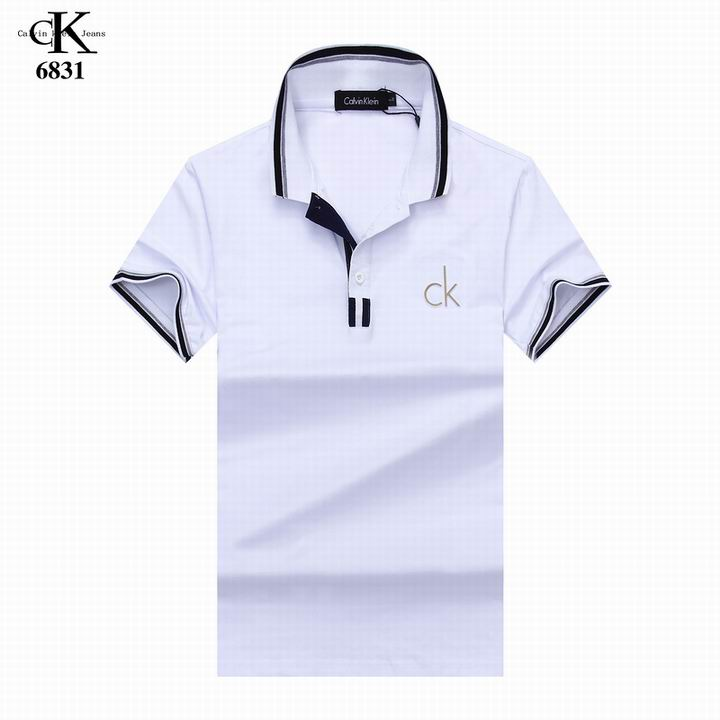 Wholesale Cheap CK Short Sleeve Lapel T Shirts for sale