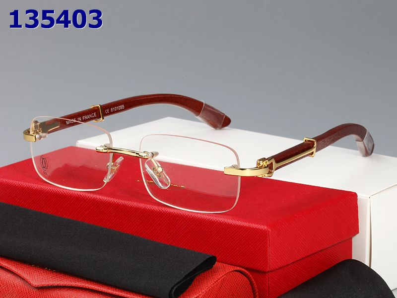 Wholesale Cheap Cartier Glasses Wood Frames for sale