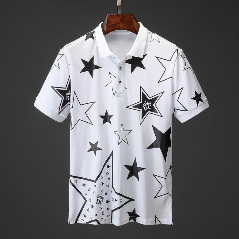 Wholesale Cheap DG Men's Short Sleeve Lapel T Shirts for sale
