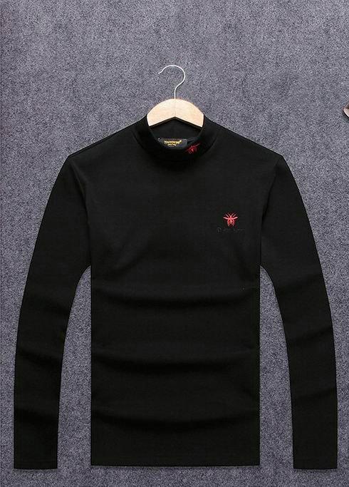 Wholesale Dior Men's High Round Collar T-Shirts-001