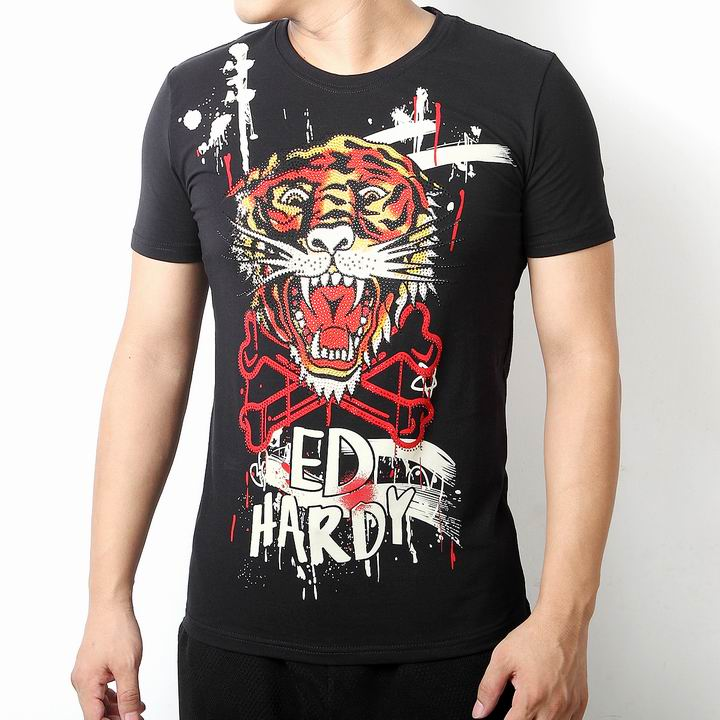 Wholesale Cheap Ed Hardy Short Sleeve Round Neck T Shirts for Sale