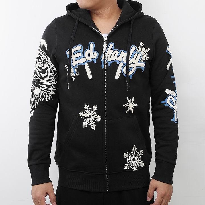 Wholesale Fashion Ed Hardy Men's Hoodies Replica Sale-001