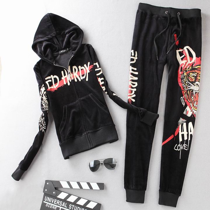 Wholesale Cheap ED Hardy Womens Long Sleeve Tracksuits for Sale