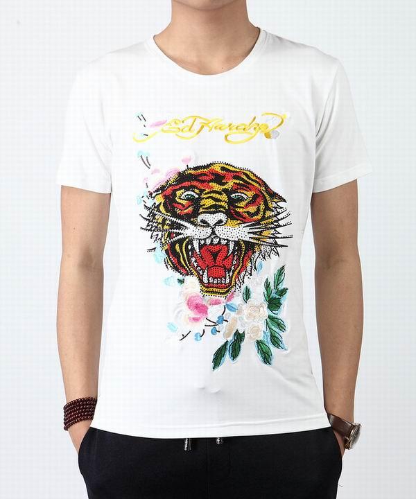 Wholesale Cheap Ed Hardy Mens Short Sleeve Round Neck T Shirts Sale-016