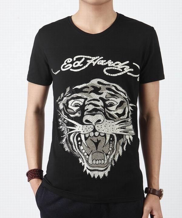 Wholesale Cheap Ed Hardy Mens Short Sleeve Round Neck T Shirts Sale-019