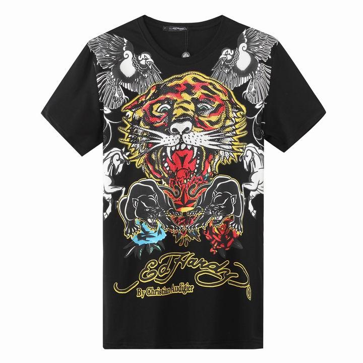 Wholesale Cheap Ed Hardy Mens Short Sleeve Round Neck T Shirts Sale-025