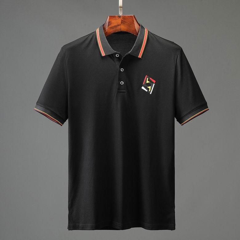 Wholesale Cheap FENDI Men's Short Sleeve Lapel T Shirts for sale