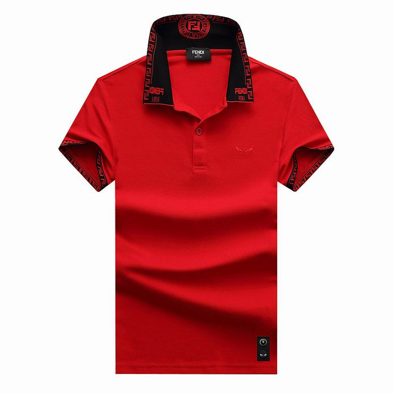 Wholesale Cheap F endi Polo Short Sleeve Lapel T shirts for sale