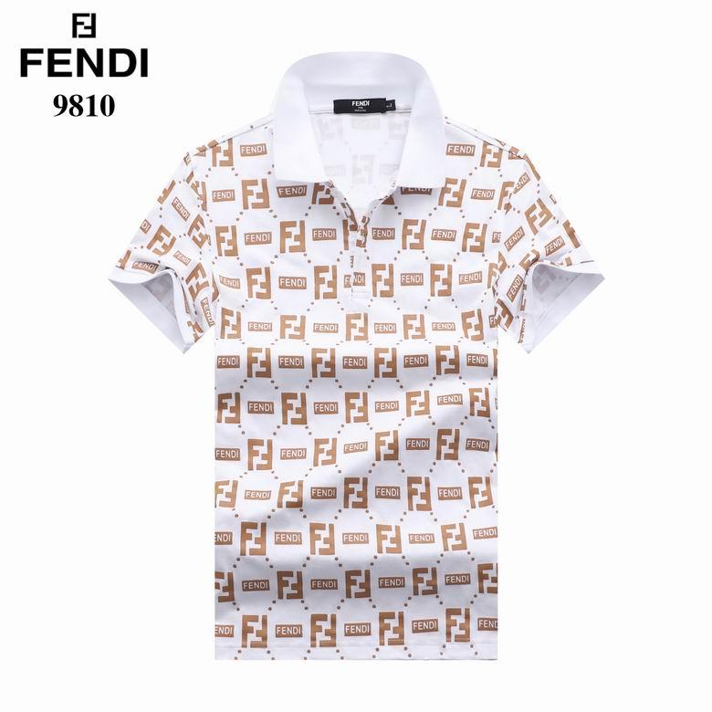 Wholesale Cheap Fend i Short Sleeve Lapel T Shirt for sale