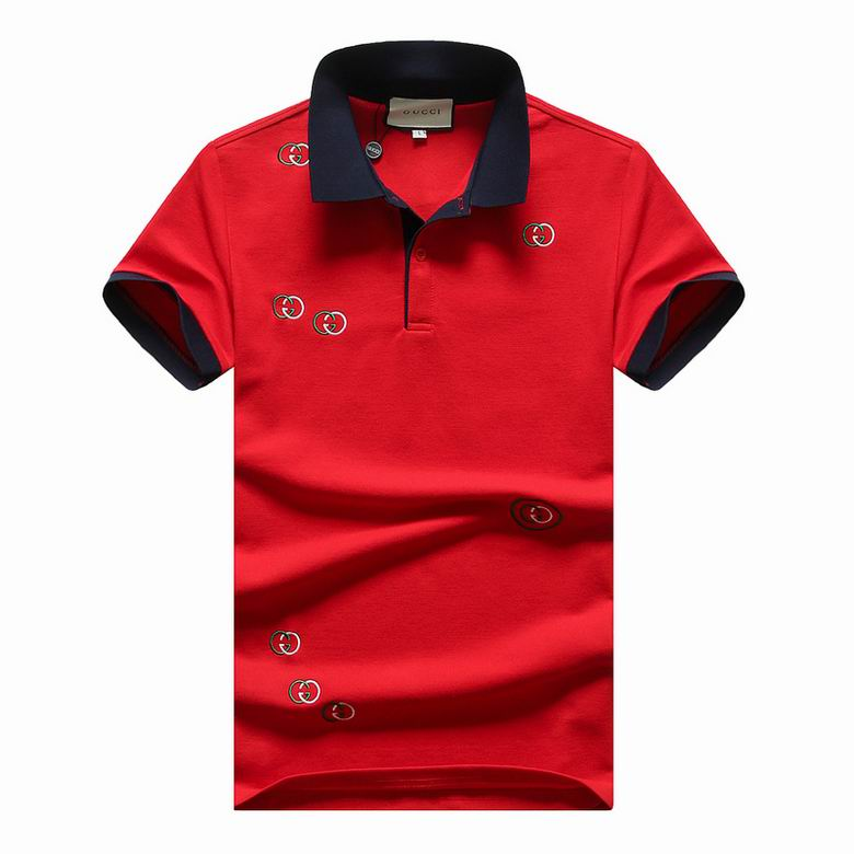 Wholesale Cheap G ucci Polo Short Sleeve Lapel T shirts for sale