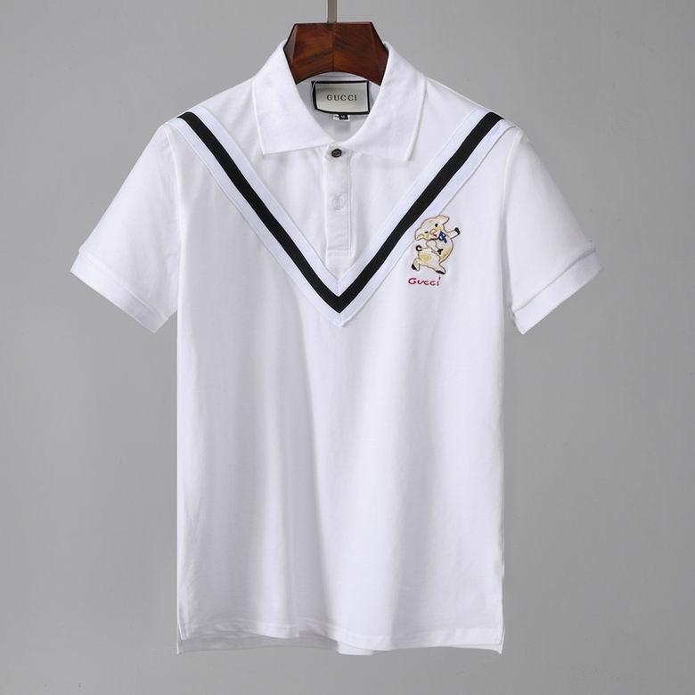 Wholesale Cheap Gucc i Polo Short Lapel T Shirt for sale