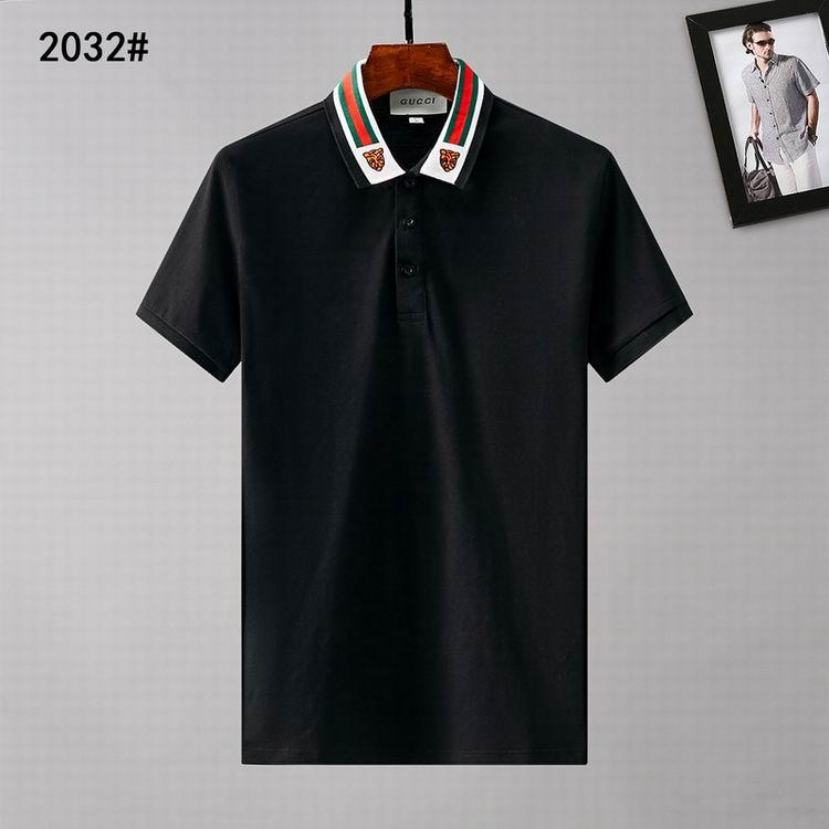 Wholesale Cheap Gucc i Short Sleeve Lapel T Shirts for sale