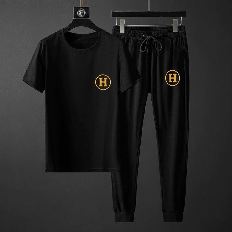 Wholesale Cheap Hermes Men's Short Sleeve Tracksuit for sale