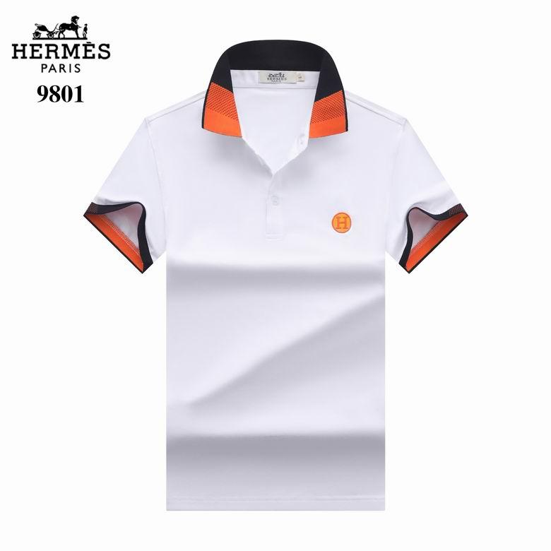 Wholesale Cheap Hermes Short Sleeve Lapel T Shirt for sale