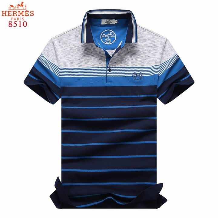Wholesale Hermes Short Sleeve Lapel T Shirts for Men-043