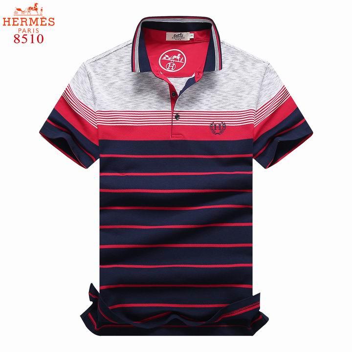 Wholesale Hermes Short Sleeve Lapel T Shirts for Men-044