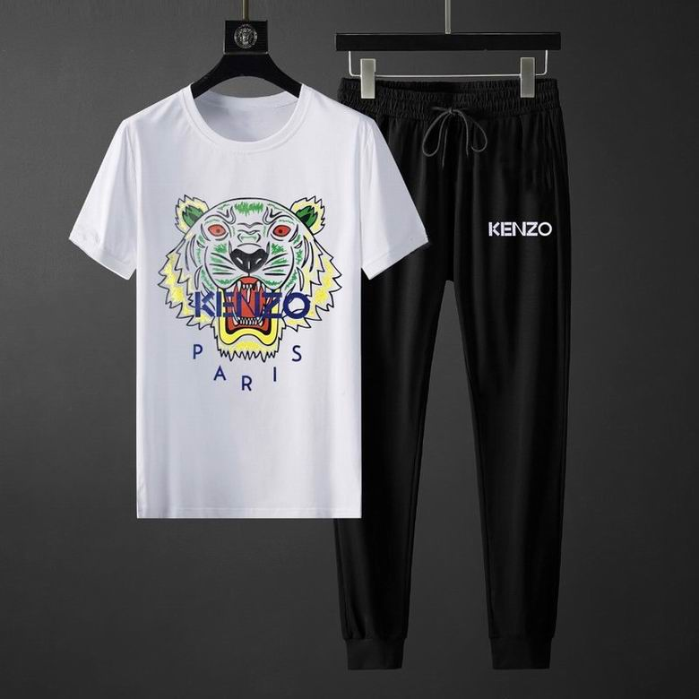 Wholesale Cheap KENZO Men's Short Sleeve Tracksuit for sale