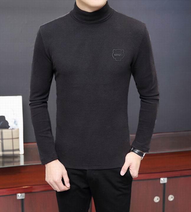 Wholesale Men's High Neck Long Sleeve T Shirts