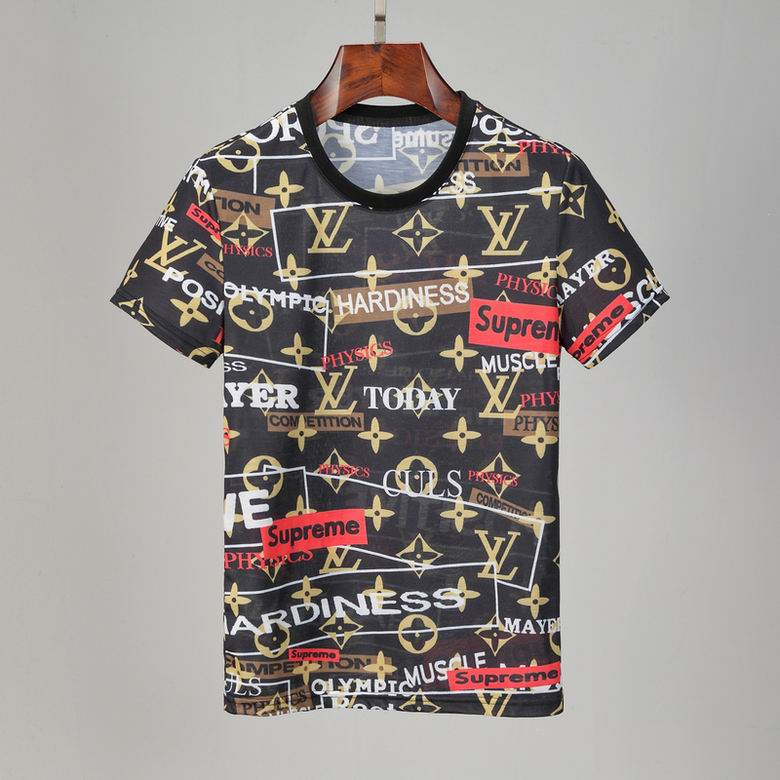 Wholesale Cheap LV Mens Short T Shirts for sale