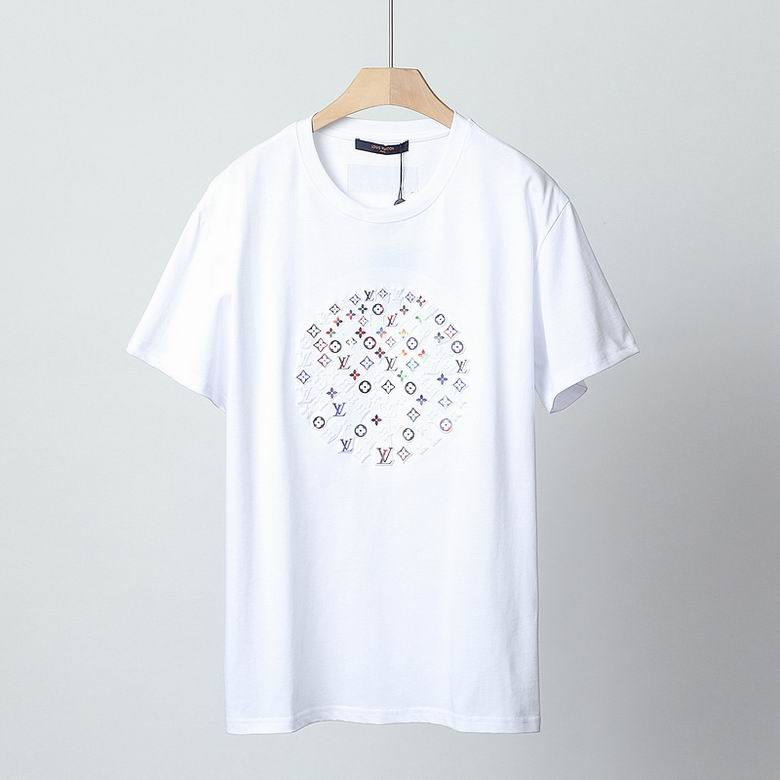 Wholesale Cheap Lv Short Round Collar T Shirt for sale