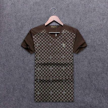 Wholesale Replica Louis Vuitton Short V neck T Shirts-001