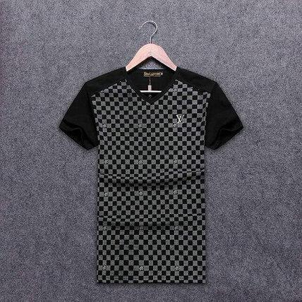 Wholesale Replica Louis Vuitton Short V neck T Shirts-002