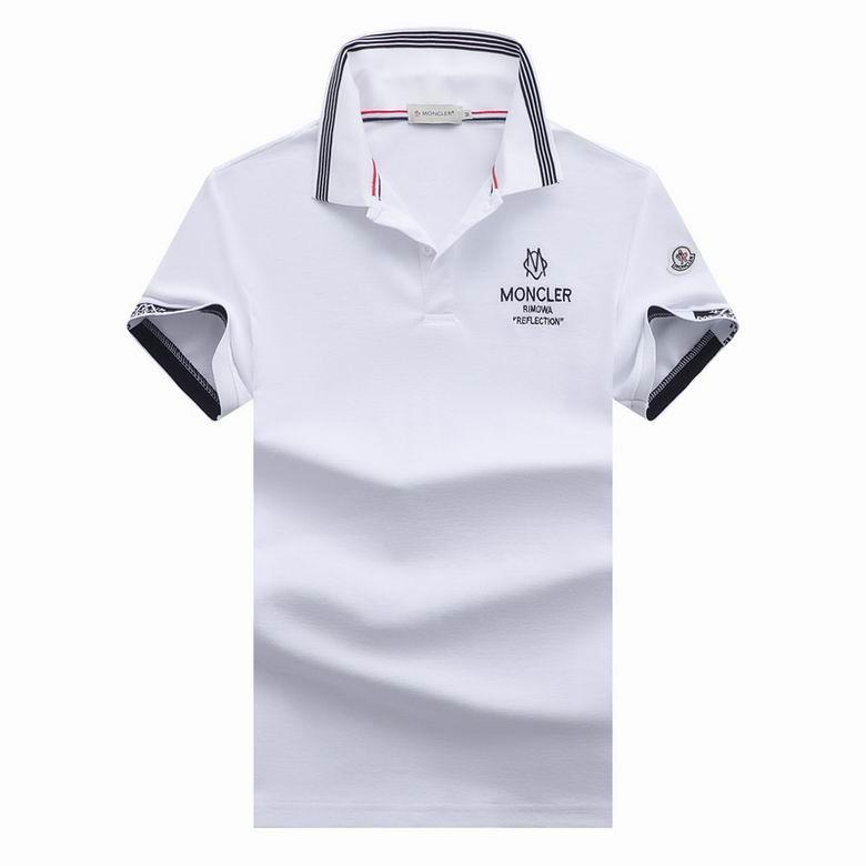 Wholesale Cheap M oncler Polo Short Sleeve Lapel T shirts for sale