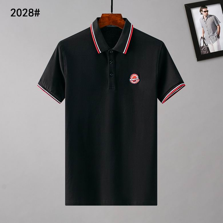 Wholesale Cheap Moncle r Mens Short Lapel T Shirts for sale