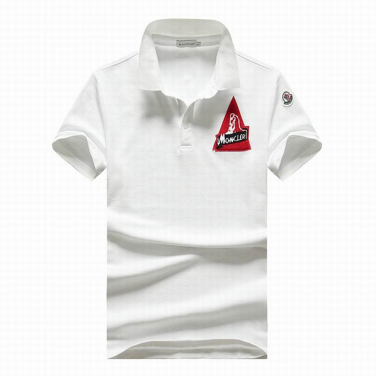 Wholesale Cheap Moncle r Short Sleeve Lapel T Shirts for men