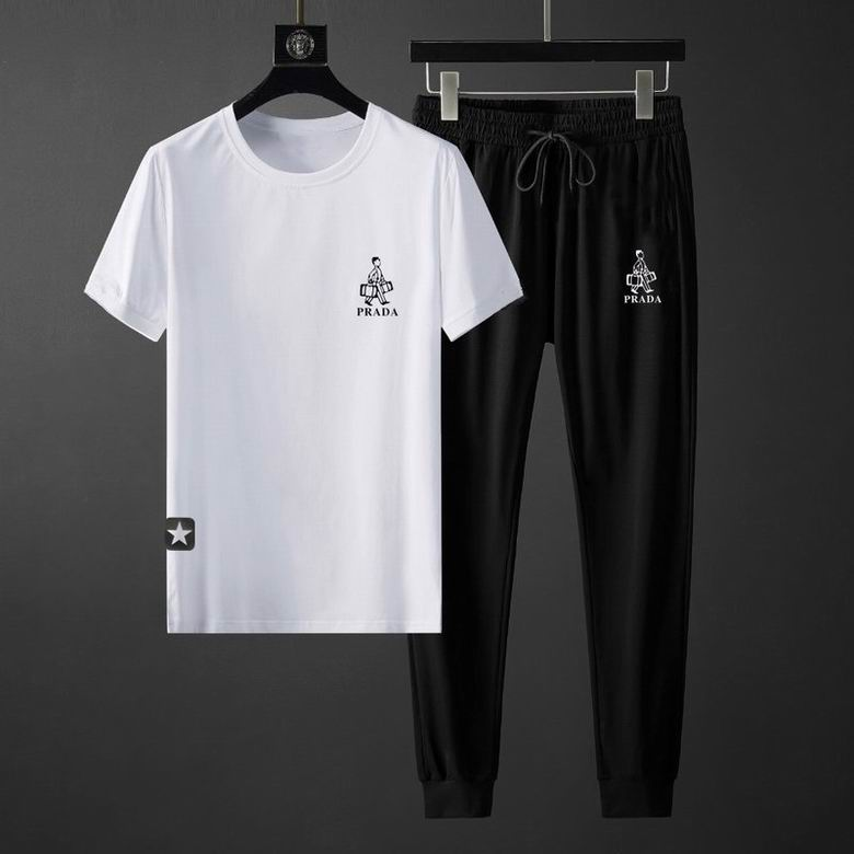 Wholesale Cheap Prada Men's Short Sleeve Tracksuit for sale