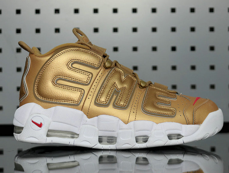 Supreme Nike Air More Uptempo Metallic Gold 902290-700