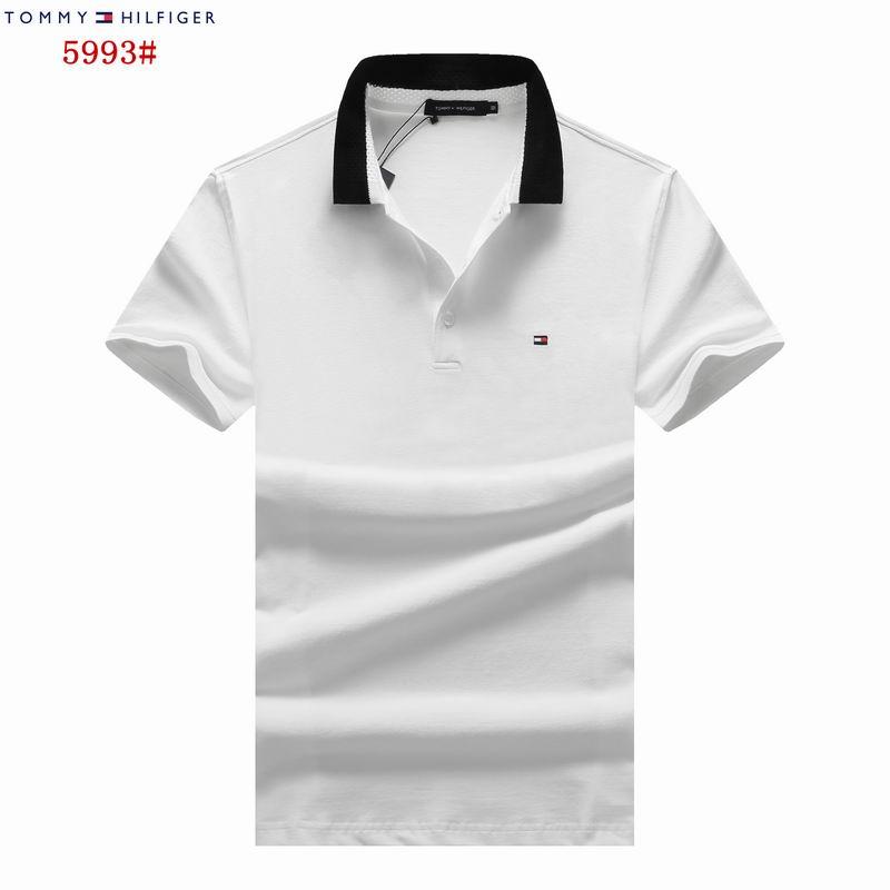 Wholesale Cheap Mens Tommy Short Sleeve Lapel T Shirts for Sale