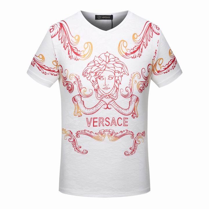 Wholesale Cheap Versace Short V Neck Men T Shirt for Sale-008