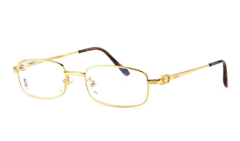 Wholesale Replica Cartier Full Rim Metal Eyeglasses Frame for Sale-023