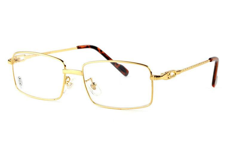 Wholesale Replica Cartier Full Rim Metal Eyeglasses Frame (Golden)-031