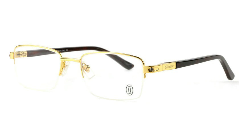 Wholesale Cheap Replica Cartier Metal Memory Plastic Glasses Frames For Sale-043