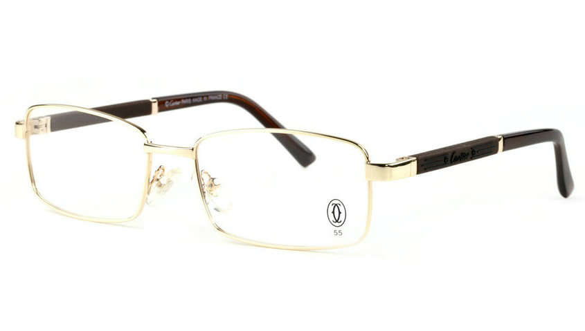Wholesale Cheap Replica Cartier Metal Memory Plastic Glasses Frames For Sale-046