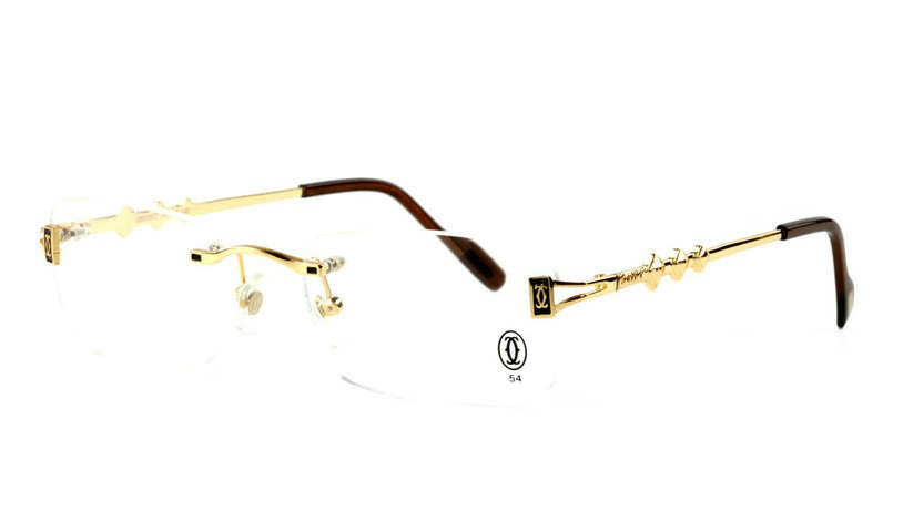 Wholesale Cheap Cartier Rimless Glasses Replica Frames for Sale-027