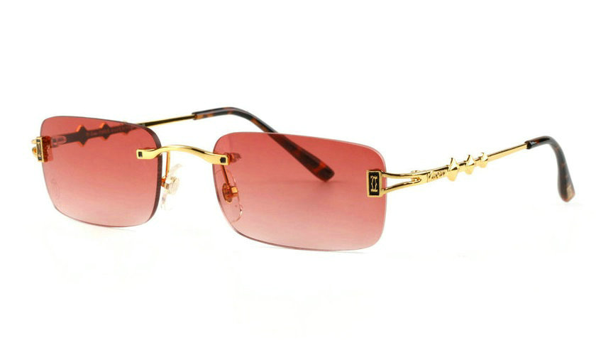 Wholesale Cheap Cartier Replica Rimless Sunglasses Frames for Sale-028