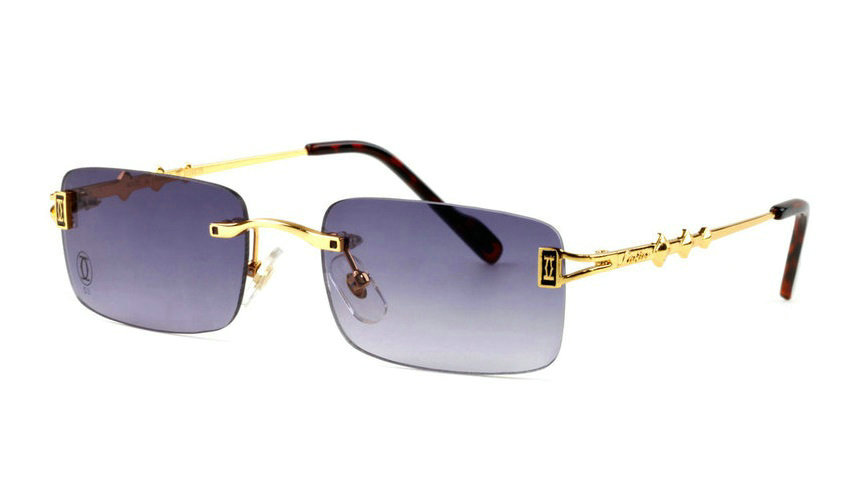 Wholesale Cheap Cartier Replica Rimless Sunglasses Frames for Sale-029