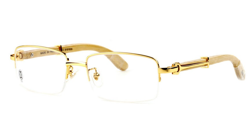 Wholesale Cheap Cartier Bamboo Eyeglass Frames for Sale-013